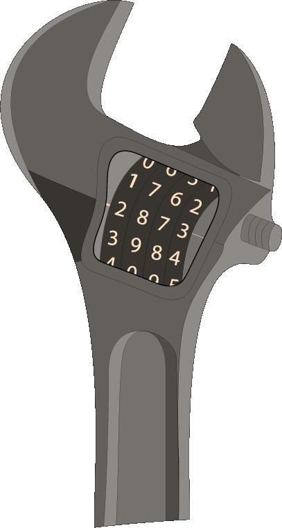 Cadena clé à molette